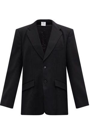 Vetements Cutout-sleeve Twill Blazer - Mens