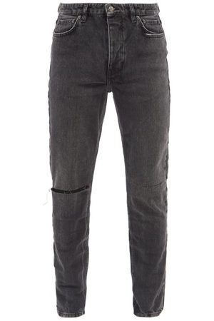 KSUBI Chitch Distressed Slim-leg Jeans - Mens - Grey
