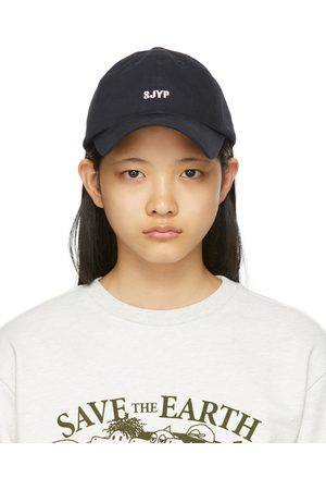 SJYP Women Caps - Navy Back Ribbon Cap