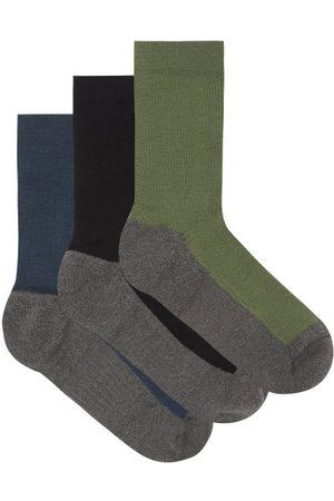Ashmei Men Socks - Pack Of Three Merino-blend Socks - Mens - Multi