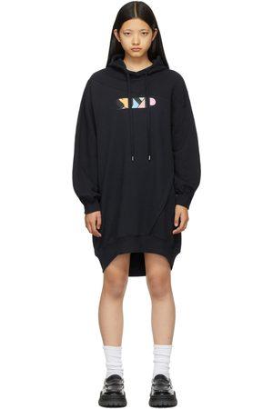 SJYP Women Hoodies - Navy Logo Hoodie Dress