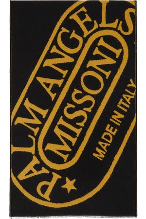 Palm Angels Men Scarves - Black & Yellow Missoni Edition Heritage Scarf