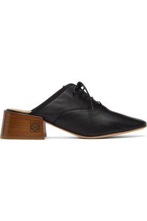 Loewe Women Formal Shoes - Black Slip-On Derby Mules