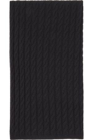 Totême Black Cashmere Cable Knit Scarf