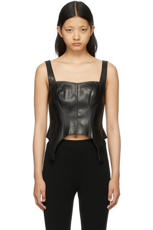 SJYP Faux-Leather Tank Top