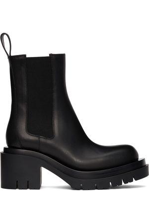 Bottega Veneta Women Heeled Boots - Black Lug Heeled Boots