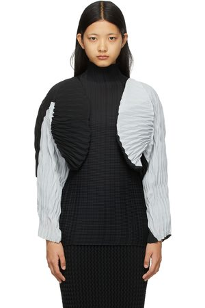 Issey Miyake Women Boleros - Black & Grey Chochin Bolero Jacket