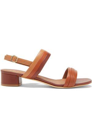 MALONE SOULIERS Sana block-heel leather slingback sandals