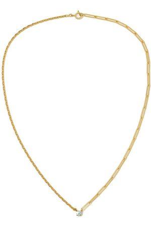 YVONNE LÉON Women Necklaces - 18-karat gold aquamarine necklace