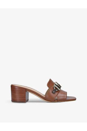 Michael Kors Women Heeled Sandals - Izzy heeled leather mules