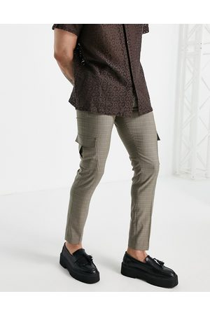 ASOS Skinny cargo smart pants in check