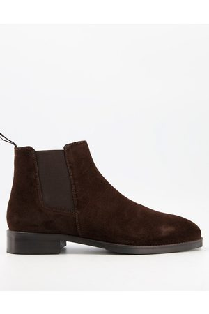 Moss Bros Moss London suede chelsea boot in