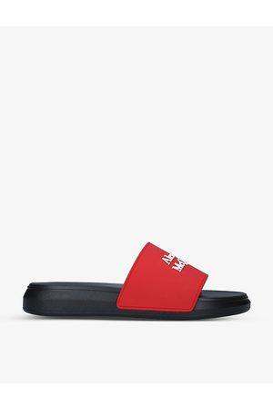 Alexander McQueen Show logo-print rubber sliders