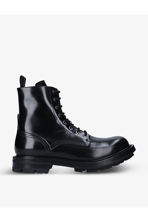 Alexander McQueen Worker lace-up leather boots