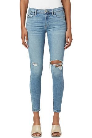 Hudson Nico Ripped Skinny Jeans in Heart of
