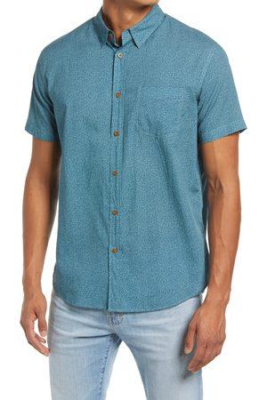 Rails Men's Men's Monaco Regular Fit Dot Print Short Sleeve Button-Up Shirt