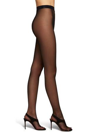 WOLFORD X AMINA Women Thongs - Women's Muaddi Back Seam Thong Toe Tights