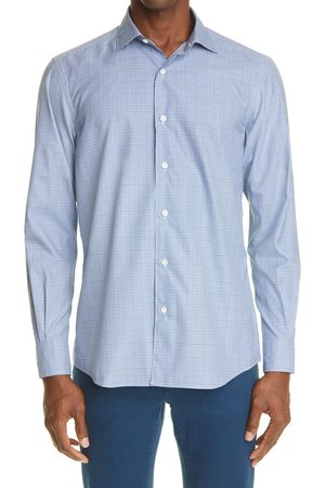 Ermenegildo Zegna Men Blazers - Men's Traveller Check Button-Up Shirt