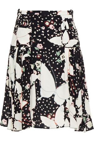 VALENTINO Women Printed Skirts - Woman Pleated Printed Silk Crepe De Chine Skirt Size 40