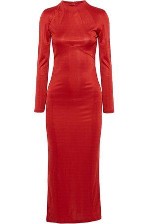 FLEUR DU MAL Women Casual Dresses - Woman Slinky Satin-jersey Midi Dress Size L