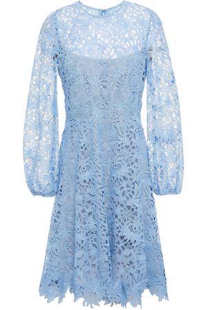 LELA ROSE Women Midi Dresses - Woman Macramé Lace Dress Sky Size 10