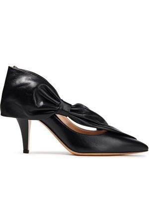 VALENTINO GARAVANI Women Heeled Pumps - Woman Bow-embellished Leather Pumps Size 39