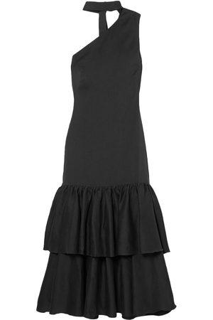 REJINA PYO Women Midi Dresses - Woman Lizzie One-shoulder Tiered Woven Midi Dress Size 10