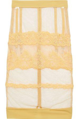 La Perla Women Slips - Woman Rugiada Jersey-trimmed Embroidered Stretch-tulle Slip Skirt Size 1