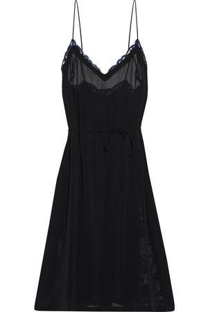 La Perla Woman Leavers Poem Lace-trimmed Silk-blend Georgette Nightdress Size 2