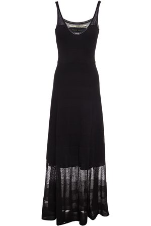 Roland Mouret Women Knitted Dresses - Woman Cetina Ribbed Crochet-knit Maxi Dress Size L