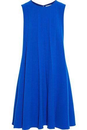 Oscar de la Renta Woman Fluted Wool-blend Crepe Dress Bright Size 6
