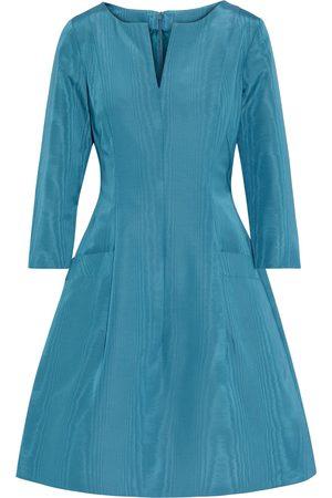 Oscar de la Renta Women Midi Dresses - Woman Flared Moire Dress Teal Size 8