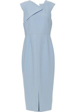 Roland Mouret Woman Tikal Stretch-crepe Midi Dress Light Size 12