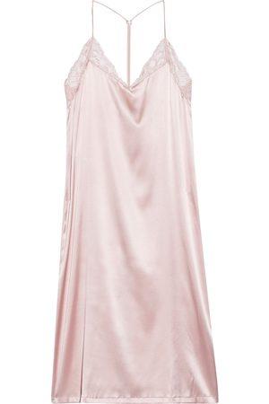 La Perla Women Nightdresses & Shirts - Woman Adele Lace-trimmed Silk-blend Satin Nightdress Pastel Size 1