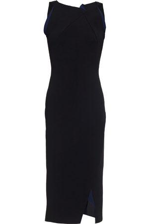 Roland Mouret Women Midi Dresses - Woman Klint Two-tone Ponte Midi Dress Size L