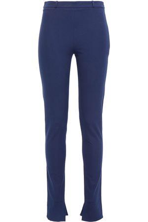 Roland Mouret Woman Mortimer Stretch-cotton Twill Skinny Pants Cobalt Size 6