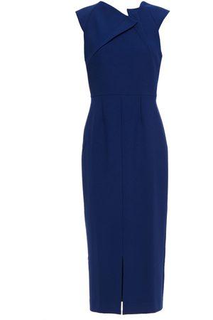 Roland Mouret Women Midi Dresses - Woman Tikal Stretch-crepe Midi Dress Indigo Size 10