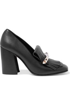 VALENTINO GARAVANI Women Heeled Pumps - Woman Uptown Studded Fringed Leather Pumps Size 37