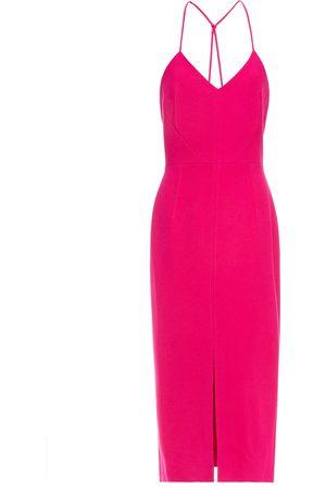Roland Mouret Women Midi Dresses - Woman Cannock Stretch-crepe Midi Dress Fuchsia Size 12