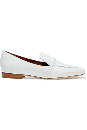 MALONE SOULIERS Women Loafers - Woman Jane Smooth And Croc-effect Leather Loafers Size 36