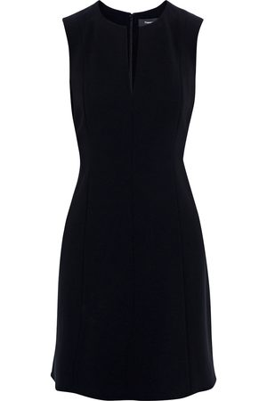 THEORY Women Party Dresses - Woman Seamed Admiral Crepe Mini Dress Size 10