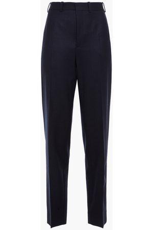 Rodebjer Women Straight Leg Pants - Woman Erlinda Pinstriped Wool-blend Twill Straight-leg Pants Navy Size L