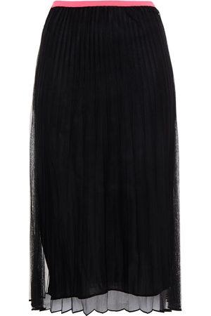 Helmut Lang Women Midi Skirts - Woman Pleated Mesh Skirt Size L