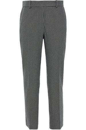 Joseph Women Skinny Pants - Woman Coleman Checked Woven Slim-leg Pants Navy Size 38
