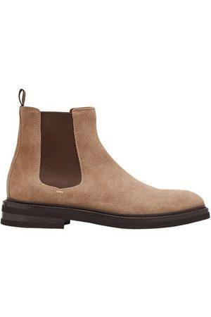 Brunello Cucinelli Men Ankle Boots - Suede Chelsea boots