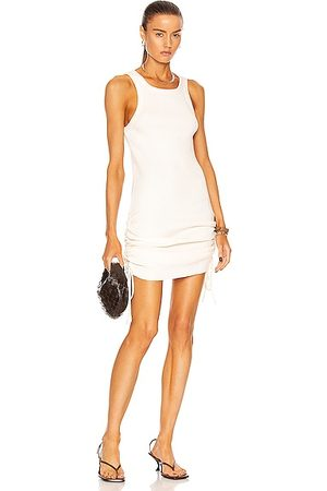 THE RANGE Cinched Mini Dress in White