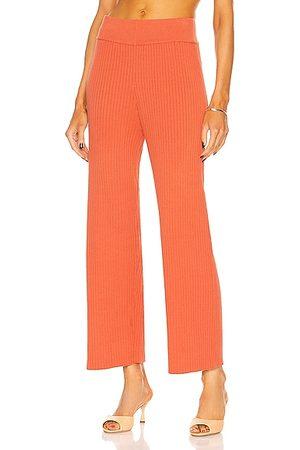 Cult Gaia Women Wide Leg Pants - Jada Knit Pant in Coral