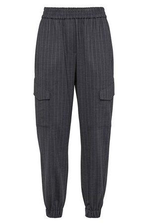 Brunello Cucinelli Women Straight Leg Pants - Chalk stripe trousers