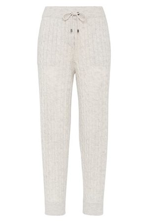 Brunello Cucinelli Women Straight Leg Pants - Knit trousers