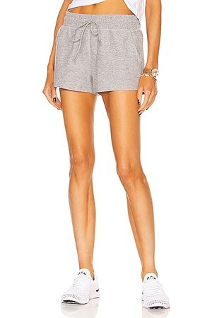 Beyond Yoga Women Shorts - Worked Up Shorts in Light Grey
